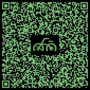 Die Bikemobil Kontaktdaten in als vCard in einem QR-Code dargestellt
